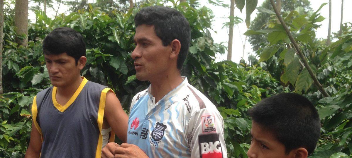 Walter uit San Martin, Peru, deed mee aan het programma en gebruikte de Cool Farm Tool
