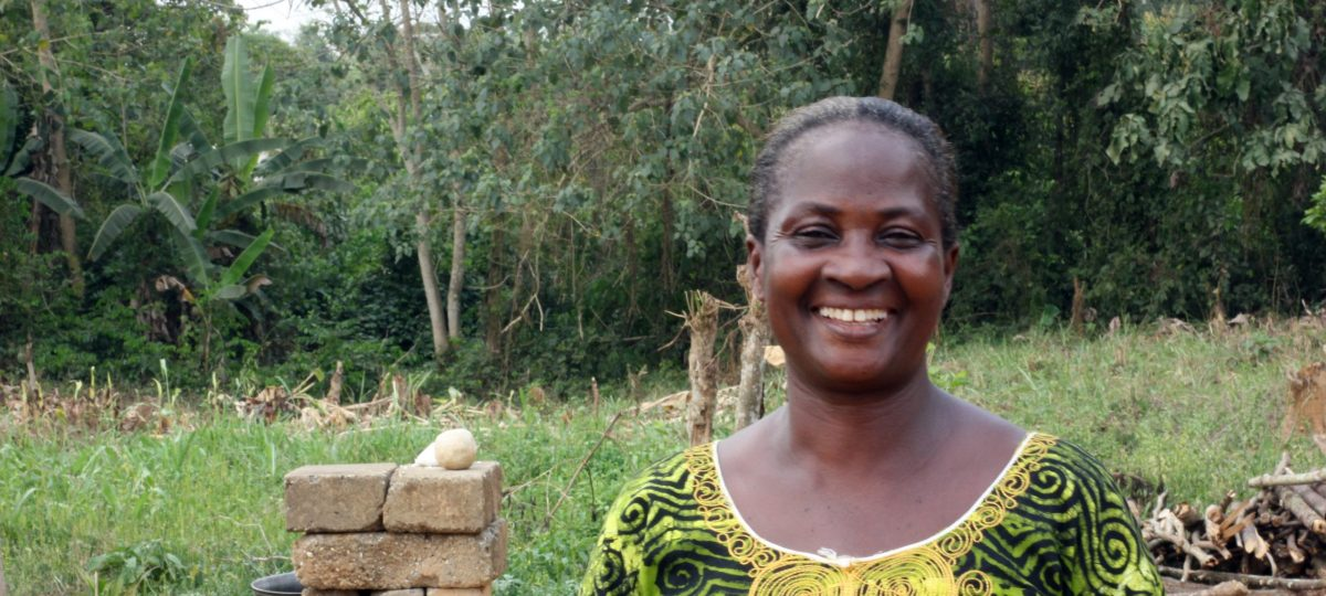 Yaa Janet, beneficiary of soap and detergent making at Ekorso