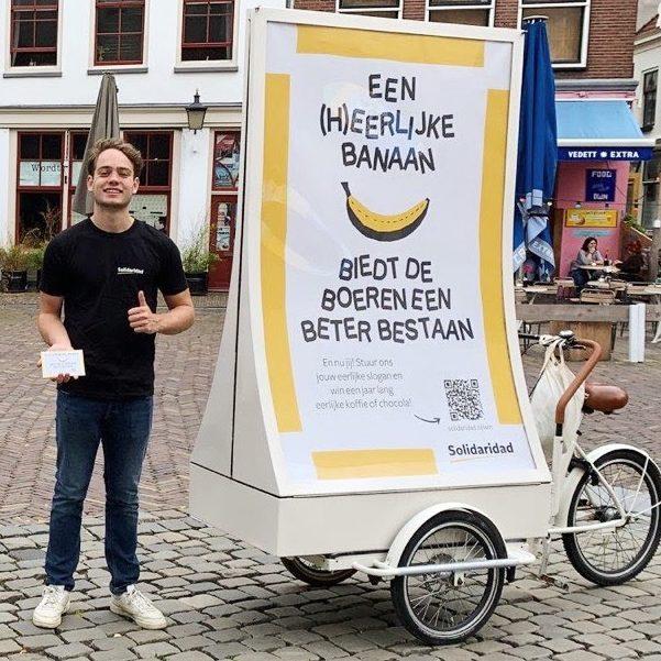 De Eerlijkste Slogan van Nederland - fietsactie in Utrecht